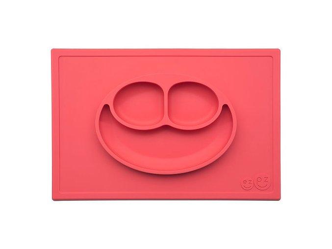 Silikónový tanier - Happy Mat - Coral